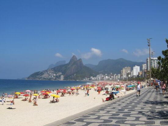 Ipanema Beach a Rio de Janeiro in Brasile