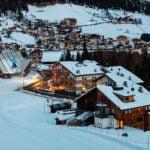 Ski,Resort,Of,Corvara,At,Night,,Alta,Badia,,Dolomites,Alps,