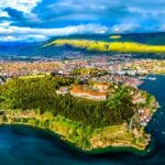 Aerial,View,Of,Samuel's,Fortress,And,Plaosnik,At,Ohrid,In