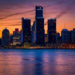 Detroit Skyline at Golden Hour