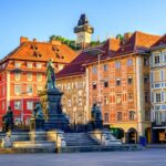 Central square in the Old Town of Graz, Austria
