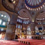 inside interior of blue mosque