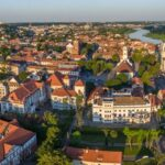 Aerial image of Kaunas city, Lithuania