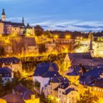 Night view of Luxembourg City