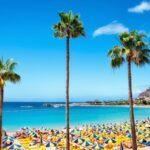 Playa de Amadores beach. Gran Canaria. Spain