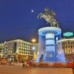Skopje City Square by Night