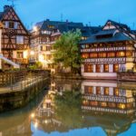 Quaint timbered houses of Petite France in Strasbourg, France.