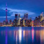 Toronto Skyline at Night from Toronto Islands