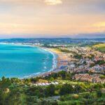 south italy sea mediterranean coast sunset in Vasto Marina – Abruzzo region – Chieti province – Italy