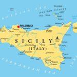Sicily, autonomous region of Italy, political map