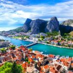 Landmarks of Croatia – impressive Omis town surrounded with gorges, over Cetina river