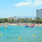 View of the Llevant Beach in Salou, Spain.