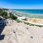 Beach in Termoli, a important resort town on Adriatic coast, Molise, Italy