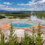 Yellowstone, Grand Prismatic pool in Yellowstone National Park